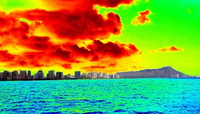 Oahu beach front -Burn