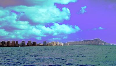Oahu beach front -Purple