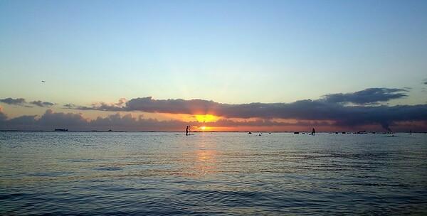 Aloha Moana Beach Sunset