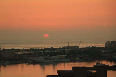 Honolulu Pier Sunset