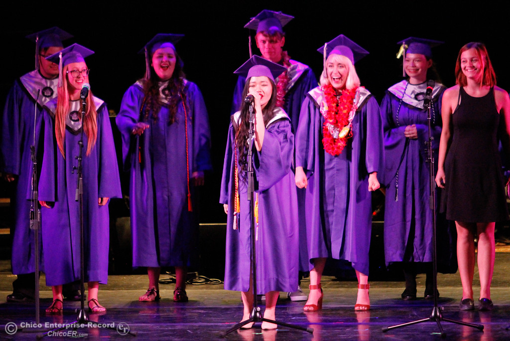 . Inspire School of Arts & Sciences graduates take a moment to tell the crowd what they want to be when they grow up during the commencement ceremony for the class of 2017 Tuesday June 6, 2017 in Chico, California. (Emily Bertolino -- Enterprise-Record)
