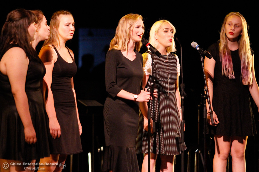 ". One Voice members sing ""For Good,\"" during the Inspire School of Arts & Sciences commencement ceremony for the class of 2017 Tuesday June 6, 2017 in Chico, California. (Emily Bertolino -- Enterprise-Record)"