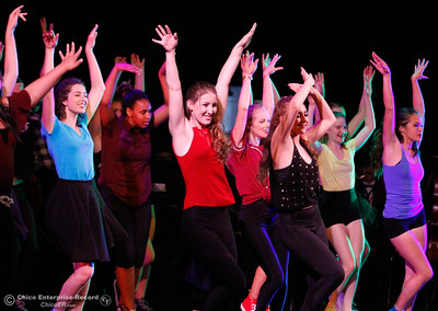 """The Inspire Dancers dance to """"Don't You Worry 'Bout a Thing,"""" during the commencement ceremony for the class of 2017 Tuesday June 6, 2017 in Chico, California. (Emily Bertolino -- Enterprise-Record)"""