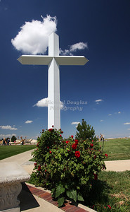 Large Cross along Route 66 in Groom, Texas