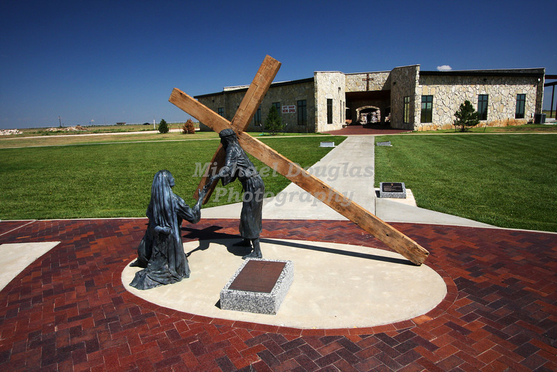 8th station of the cross<br /> Jesus comforts the women of Jerusalem<br /> Groom, Texas