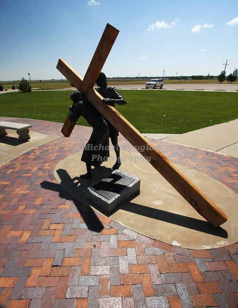 2nd station of the cross<br /> Jesus carries His cross<br /> Groom, Texas