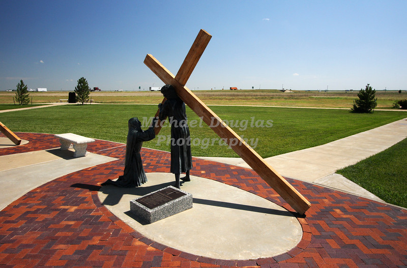 4th station of the cross<br /> Jesus meets his mother, Mary<br /> Groom, Texas