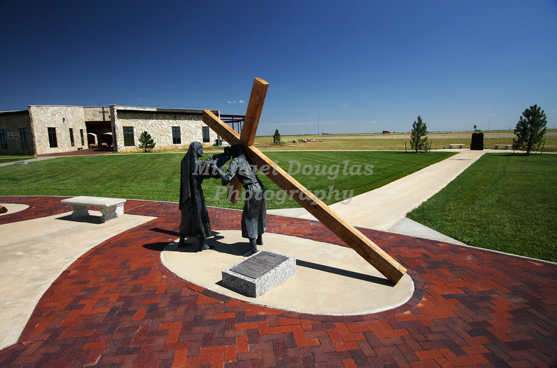6th station of the cross<br /> Veronica wipes the face of Jesus<br /> Groom, Texas