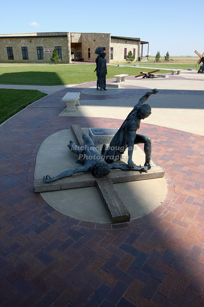 11th station of the cross<br /> Jesus nailed to the cross<br /> Groom, Texas