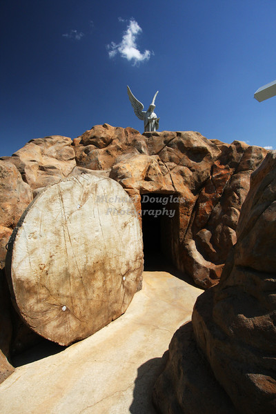 """He has risen""<br /> The empty tomb<br /> Groom, Texas"