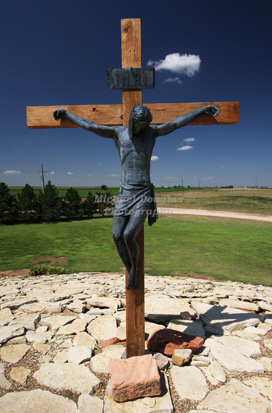12th station of the cross<br /> Jesus dies on the cross<br /> Groom, Texas