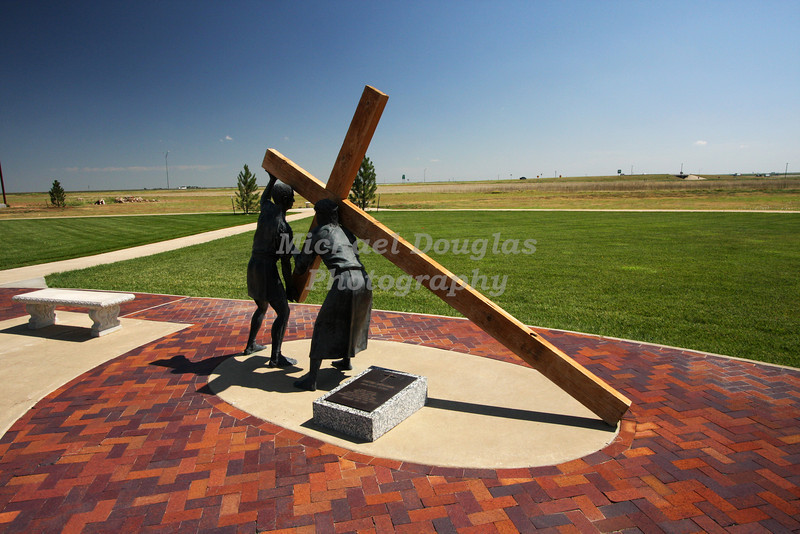 5th station of the cross<br /> Simon helps Jesus<br /> Groom, Texas
