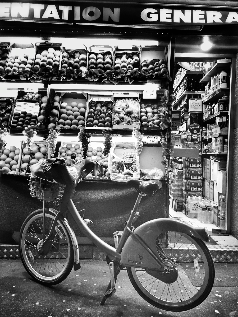 Fruit, Vegetables And Bike