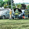 Jack Haley/Messenger Post Media<br /> Canandaigua Fire Department and Canandaigua Emergency Squad responded to a two car MVA on County Road 10 at Routes 5&20 at lunch time on Wednesday.