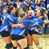 Jack Haley/Messenger Post Media<br /> The Honeoye Bulldogs seeded sixth celebrate their three game sweep over No. 2 Kendal on Wednesday to advance to the Class D2 title game.