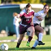 Jack Haley/Messenger Post Media<br /> Hailie Empson of Dundee battles with Naples Emma Lincoln for the ball in the first half of the Big Green's win over the Scotsmen.