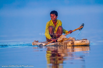Fisherman - Necessity / Desperation is mother of Jugaad, a makeshift invention!!!
