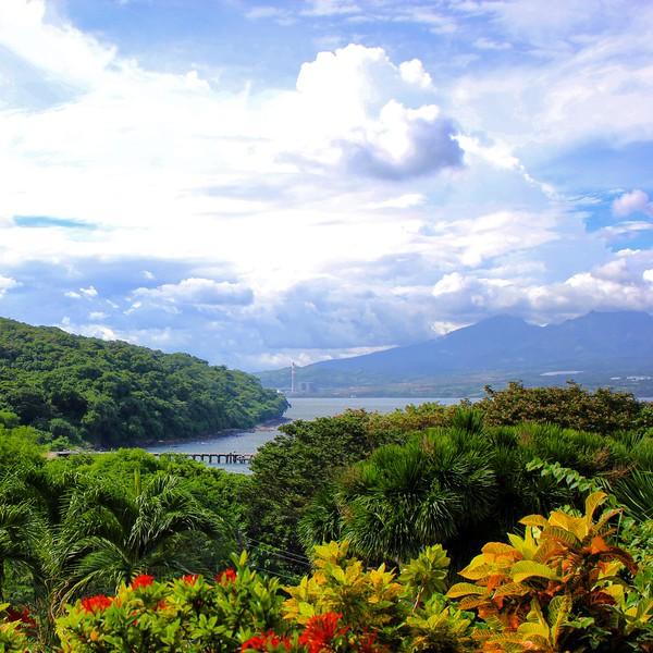view on Manila Bay and Bataan from Corregidor Island
