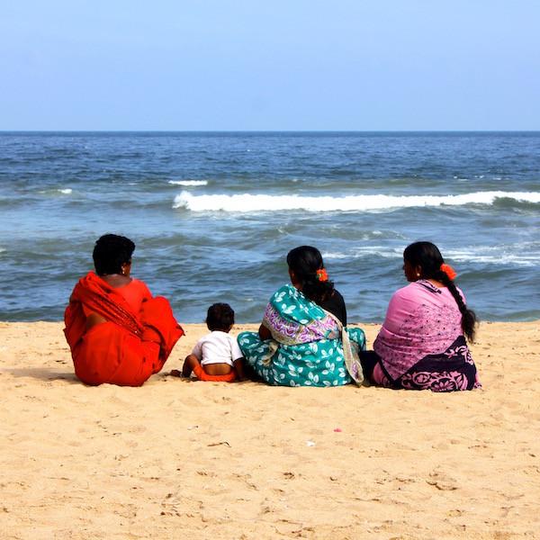 India women on beach