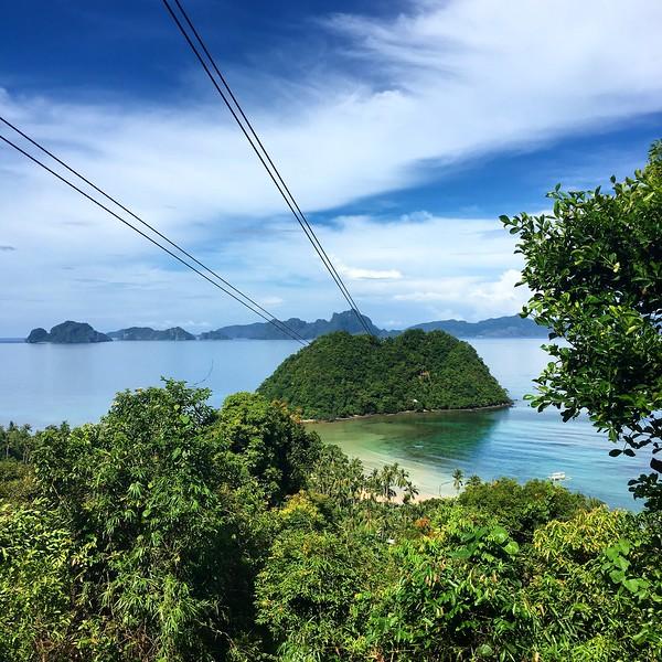 zipline in El Nido on the island of Palawan