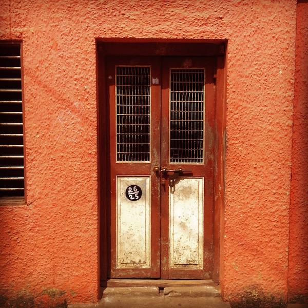 Red door from India trip