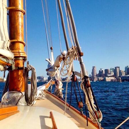 Boston sail boat