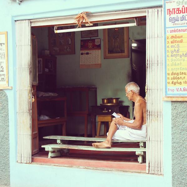 India man reading