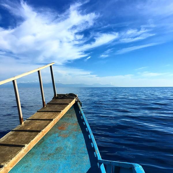 view from boat in Honda Bay