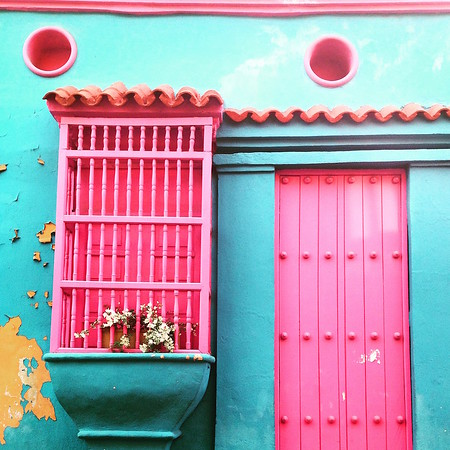 Colombia colorful house