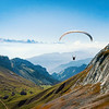 paragliders at Mt. Pilatus