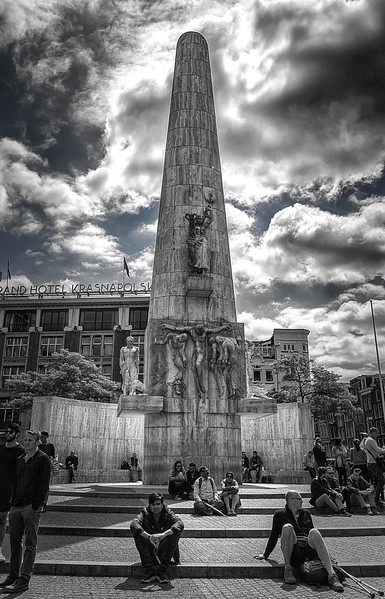 National Monument (Amsterdam), in Dam Square Designed by architect J.J.P. Oud. Sculpture by John Radecker, his sons, and by Paul Gregoire.
