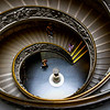 Double helix spiral stairs, exiting the Vatican Museums, designed by Giuseppe Momo