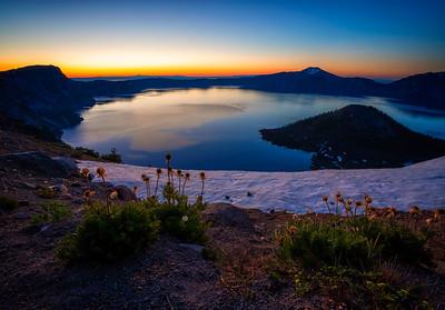 pre-dawn Crater Lake