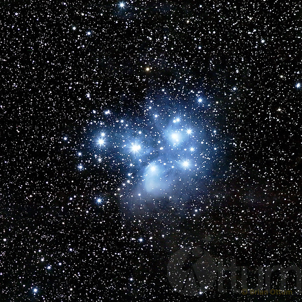 Wide View of The Pleiades 7 Sisters Subaru Cluster