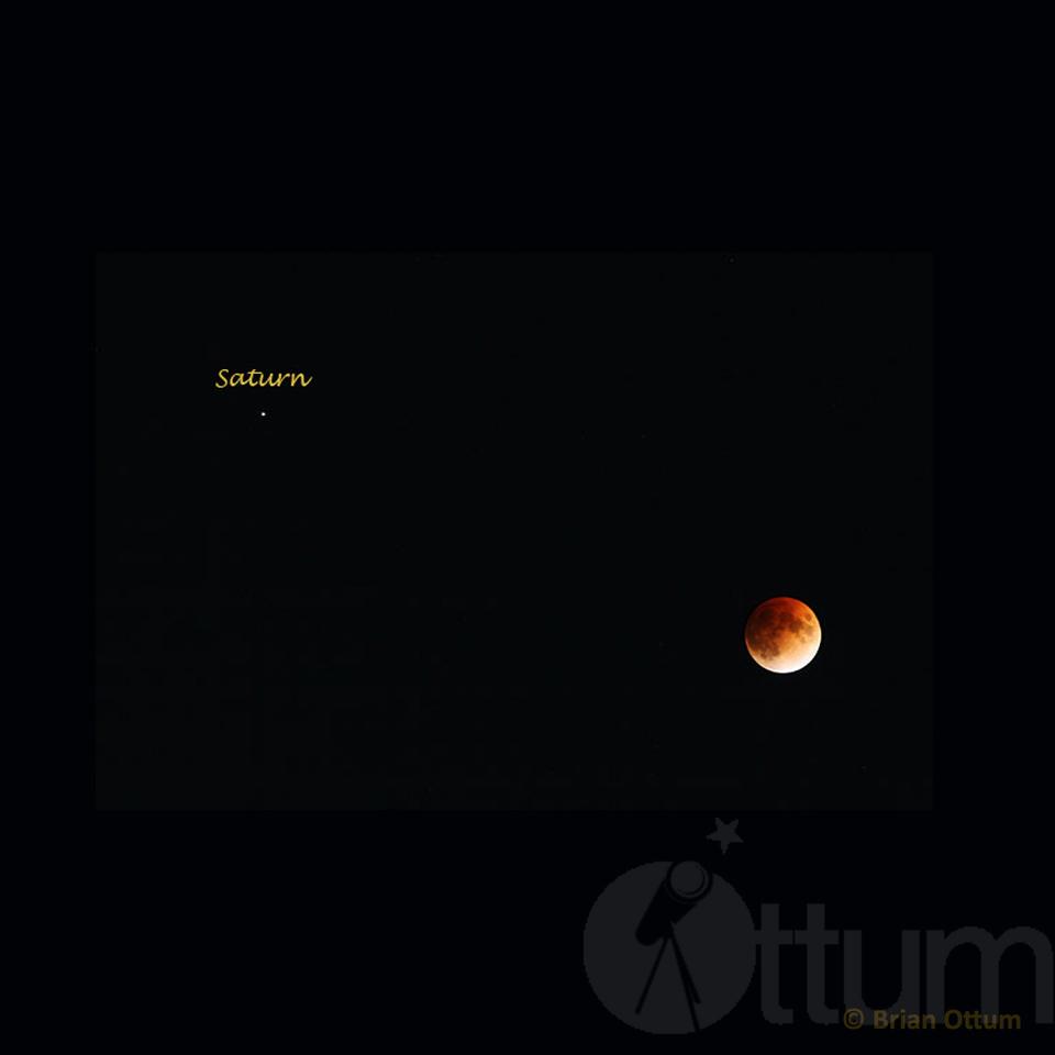 Lunar Eclipse Near Saturn