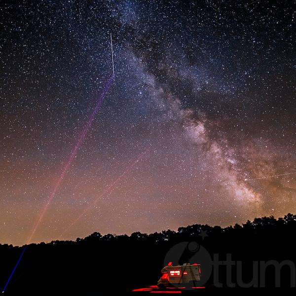 Lasering The Perseid Meteors