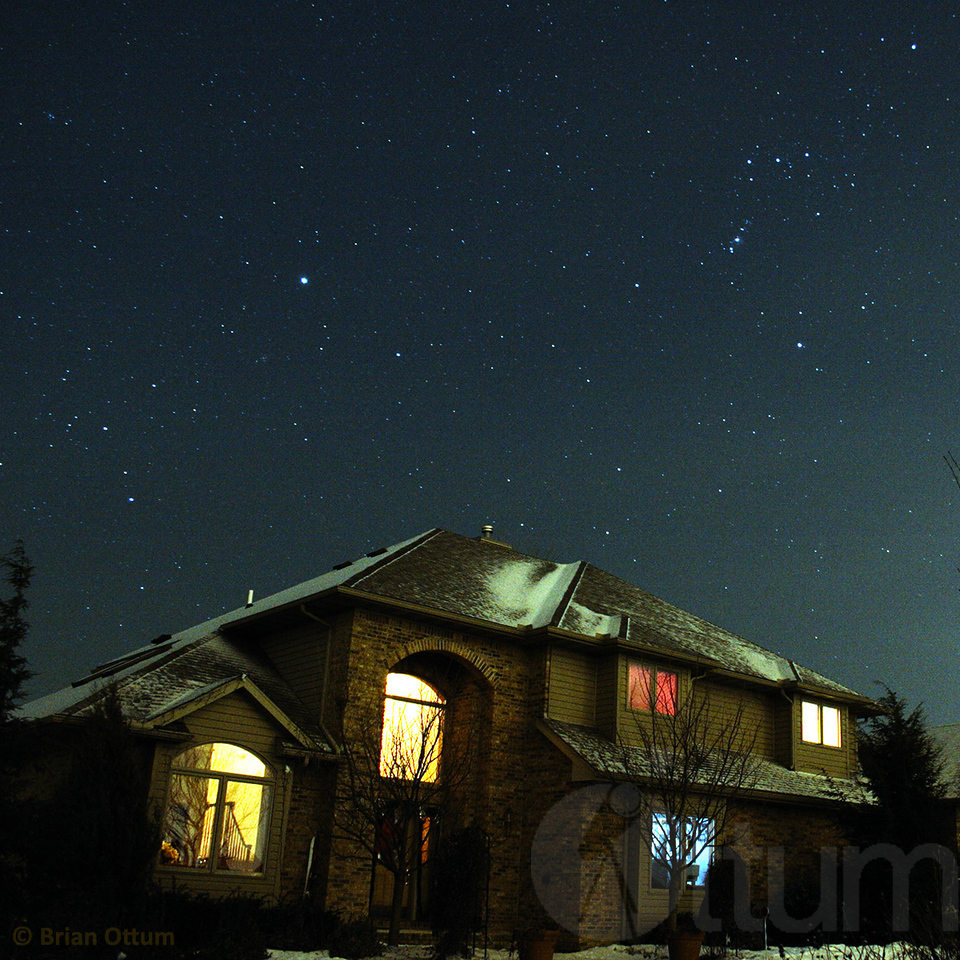 Orion Over House