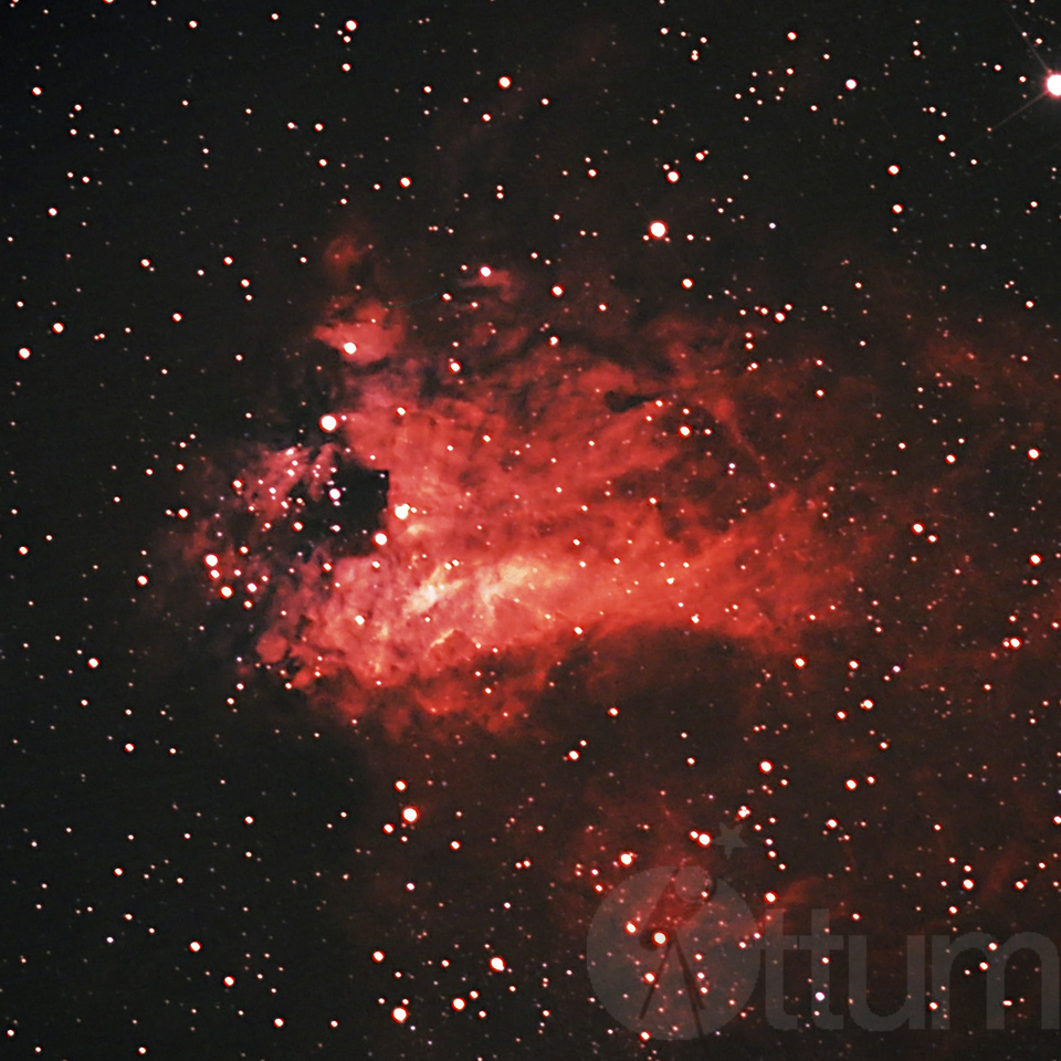The Swan, The Omega, M17 Nebula