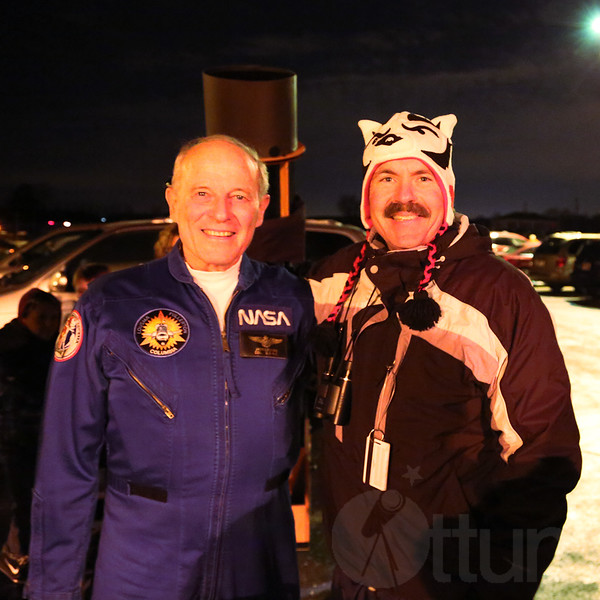 Astronaut Jack Lousma and Guy in Stupid Hat