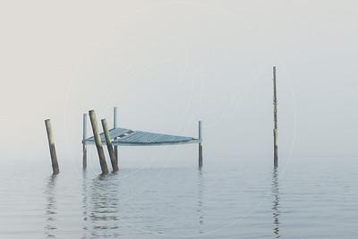 Foggy Pier Light