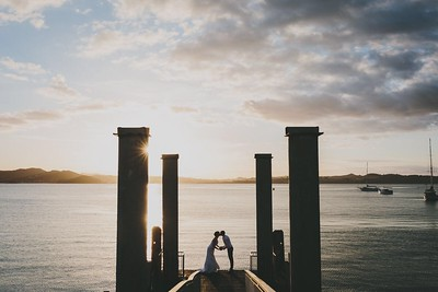 Russell Wharf / Jetty Sunset Wedding, Russell, Bay of Islands, Northland