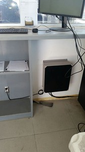 Inside radio cabinet