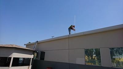 Install base and antenna at a TJ trucking company.