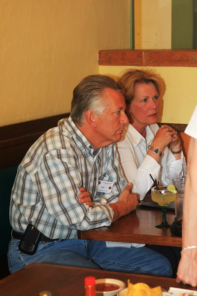 Bob and Jan Boynton - clearly a very serious point in the meeting - At least some one is listening to Joe talk :-)