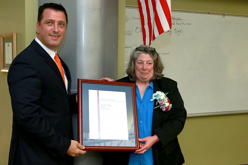 . Scenes from the official installation ceremony of Tina M. LeBlanc as postmaster of the Ashburnham Post Office. SENTINEL & ENTERPRISE/JOHN LOVE