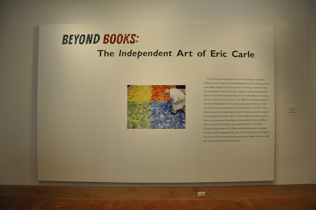 Intro Panel (Photo of Eric Carle Painting by Motoko Inoue, 2011) . [Photo by Kristin Angel for The Eric Carle Museum of Picture Book Art - Reproduction only with permission]