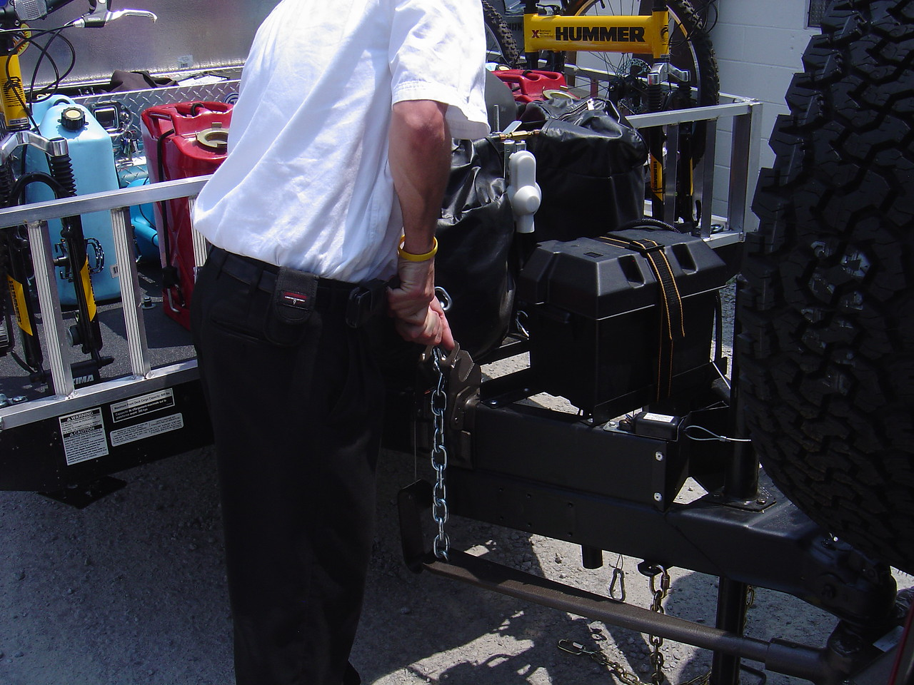 The key to installing was to make sure the chains were long enough so the bars would be under the A frame.