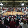 The Chico State Wildcats play against Cal State Stanislaus in the first half of their men's basketball game at Acker Gym on Saturday, February 18, 2017 in Chico, Calif. <br /> (Jason Halley/University Photographer)