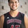Malik Duffy, #45 on the Men's Basketball Team on Thursday, October 12, 2017 in Chico, Calif. <br /> (Jessica Bartlett/University Photographer)