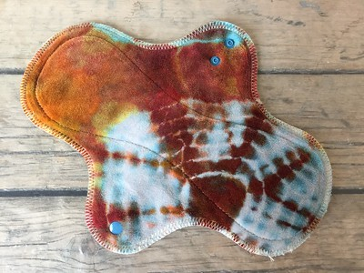 "ONE Heavy Flow Wrap Wing Pad - bamboo velour - ""earthy geode"""